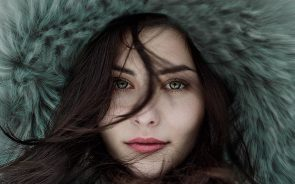 Woman with pretty eyes
